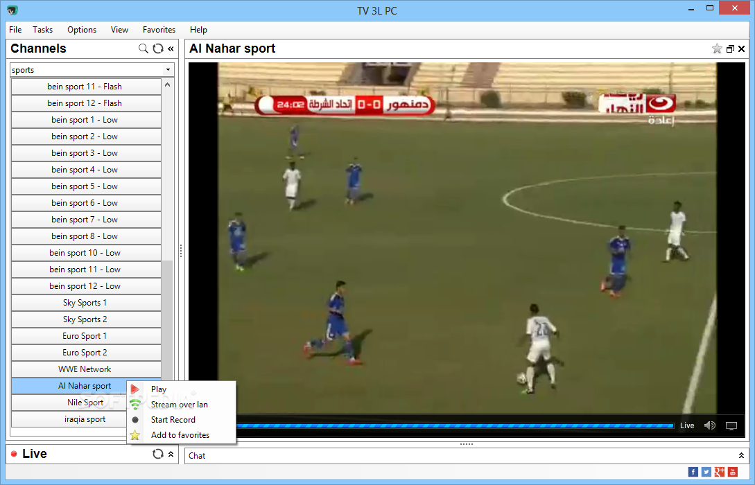 tv 3l pc bein sport
