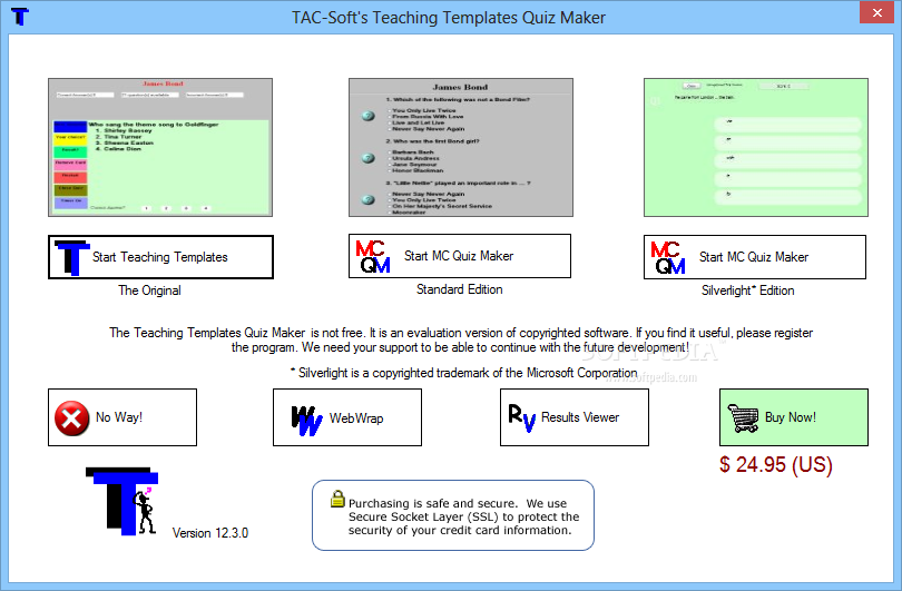 Download Teaching Templates Quiz Maker 15.9.0