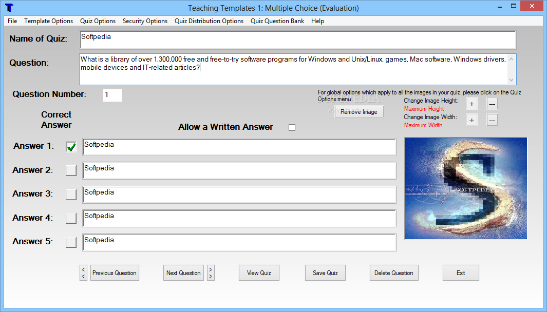 Download Teaching Templates Quiz Maker 15.8.0