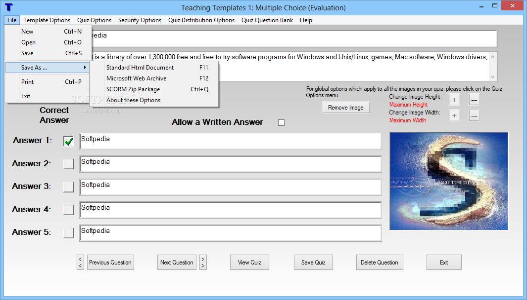 Download Teaching Templates Quiz Maker 15 9 0