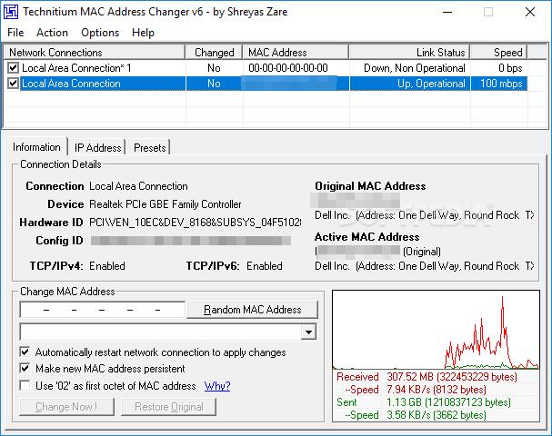 Technitium mac address changer download
