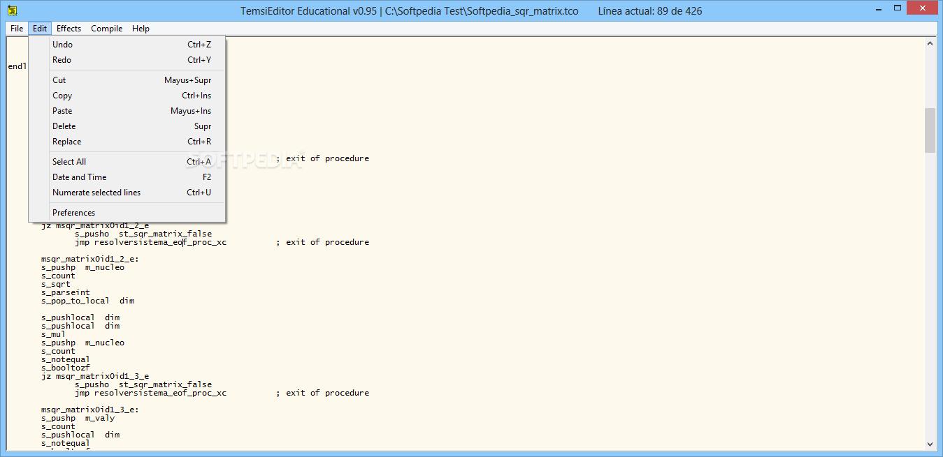 Download Teimsi Editor and Compiler 0 95