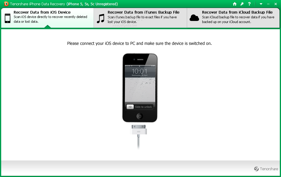 Download Tenorshare iPhone 5 Data Recovery 8.2.1.0