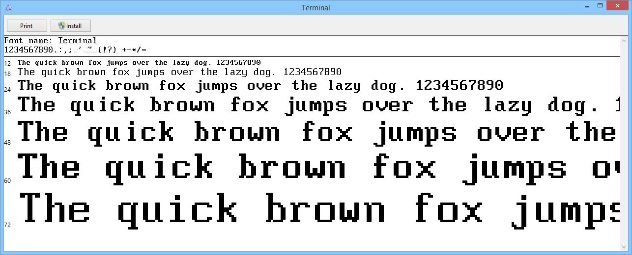 Download Terminal Font