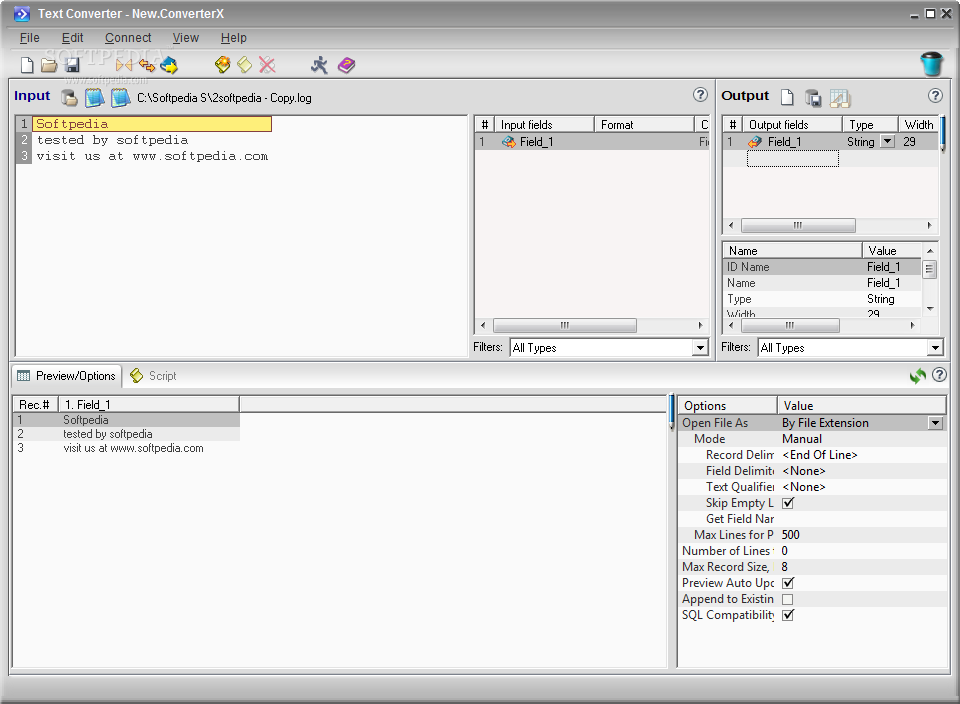 simx text converter