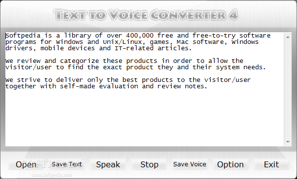 Download Text to Voice Converter 4 0