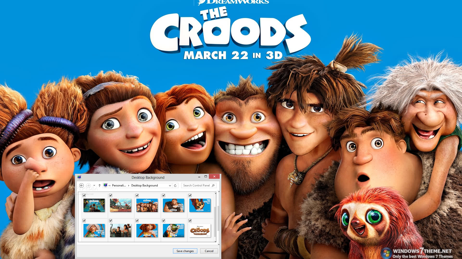 download the croods windows 7 theme 1.00