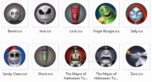 Nightmare Before Christmas Icons.Download The Nightmare Before Christmas 1 0