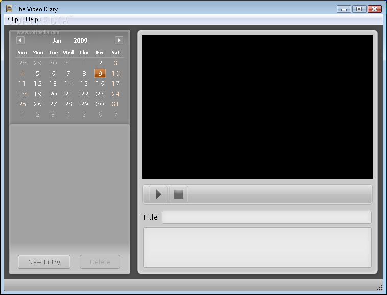 Video diary software for pc.