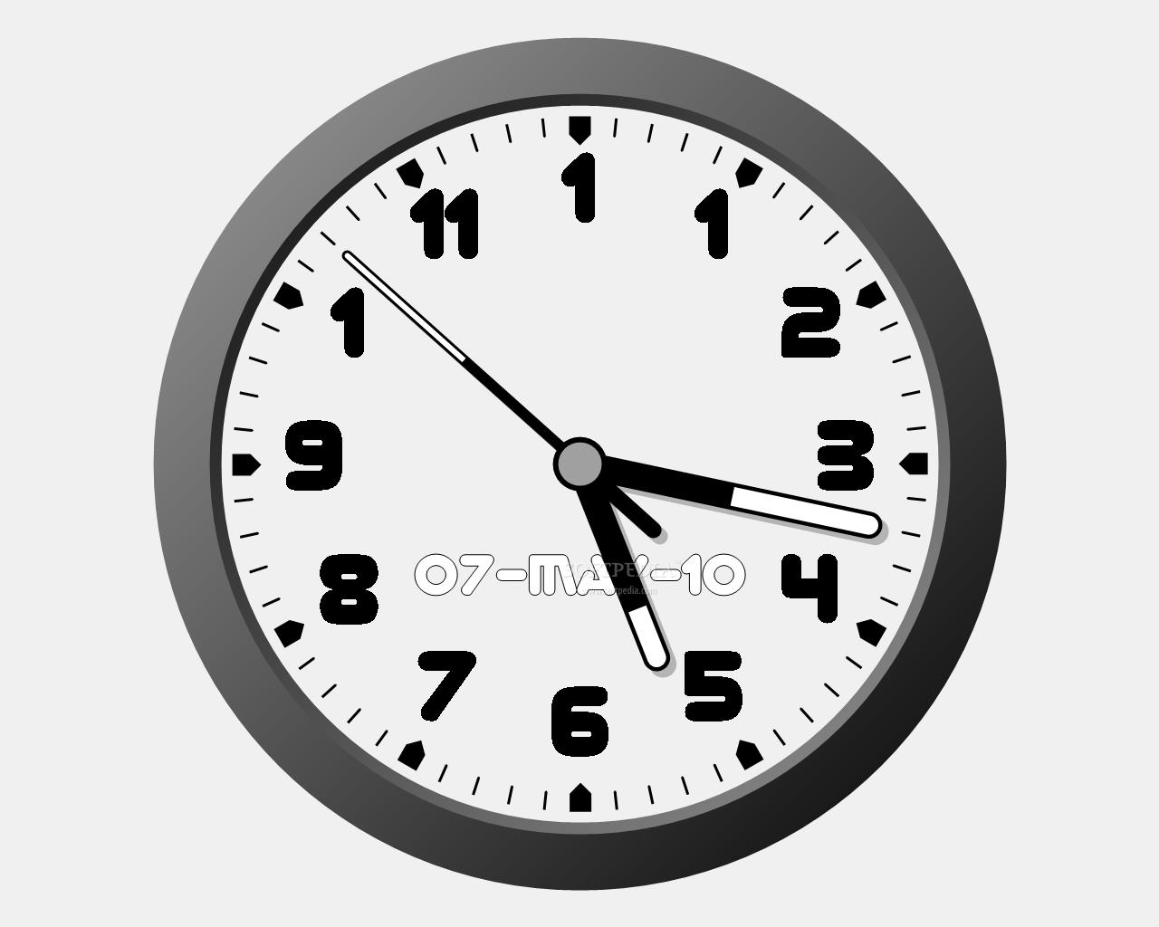 Digital Clock Windows 10 Gadget - Win10Gadgets