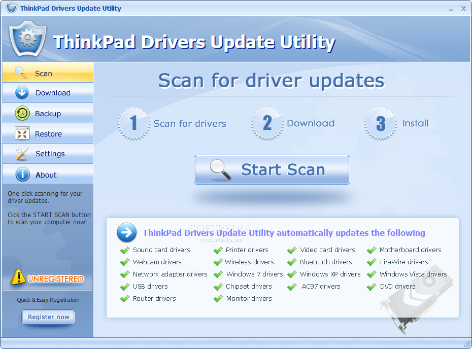 Download ThinkPad Drivers Update Utility 8.1.5990.53052