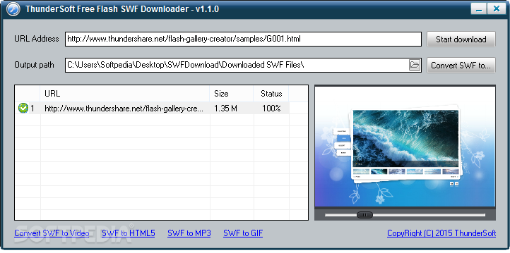 Download ThunderSoft Free Flash SWF Downloader 1 8 0