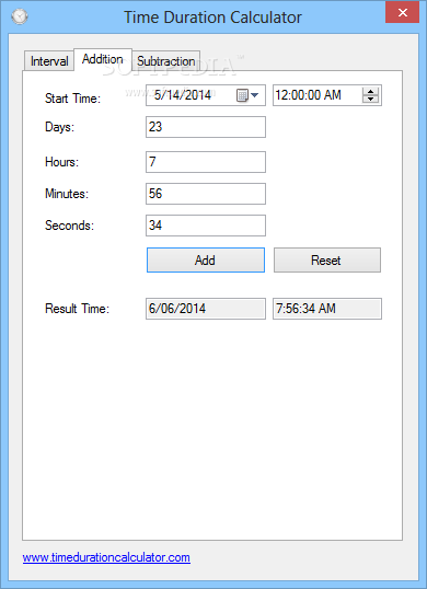 Download Time Duration Calculator 1 0
