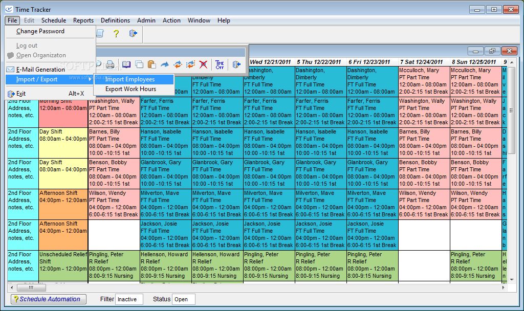 download time tracker employee scheduling software 5 1 1654