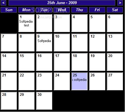 tinnes desktop calendar