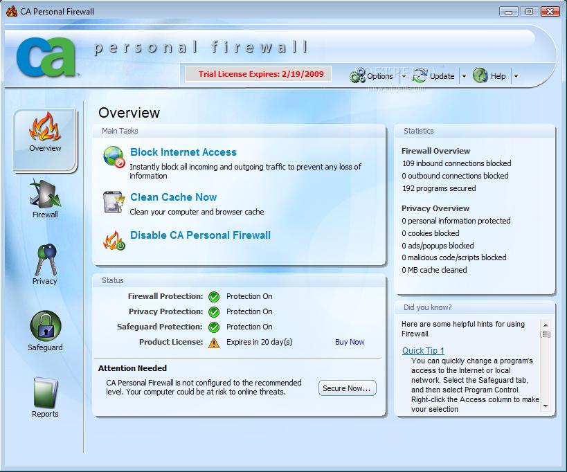 Download CA Personal Firewall 2009 11.0.0.576