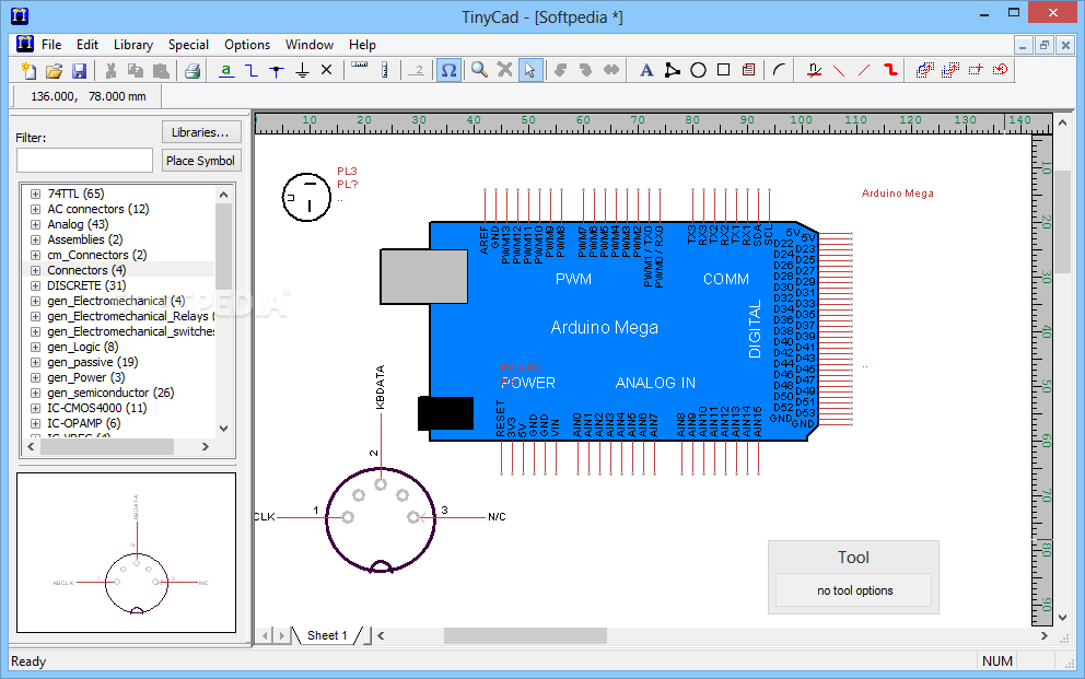 download tinycad 2 90 00 build 686 rh softpedia com TinyCAD Review TinyCAD PCB Output