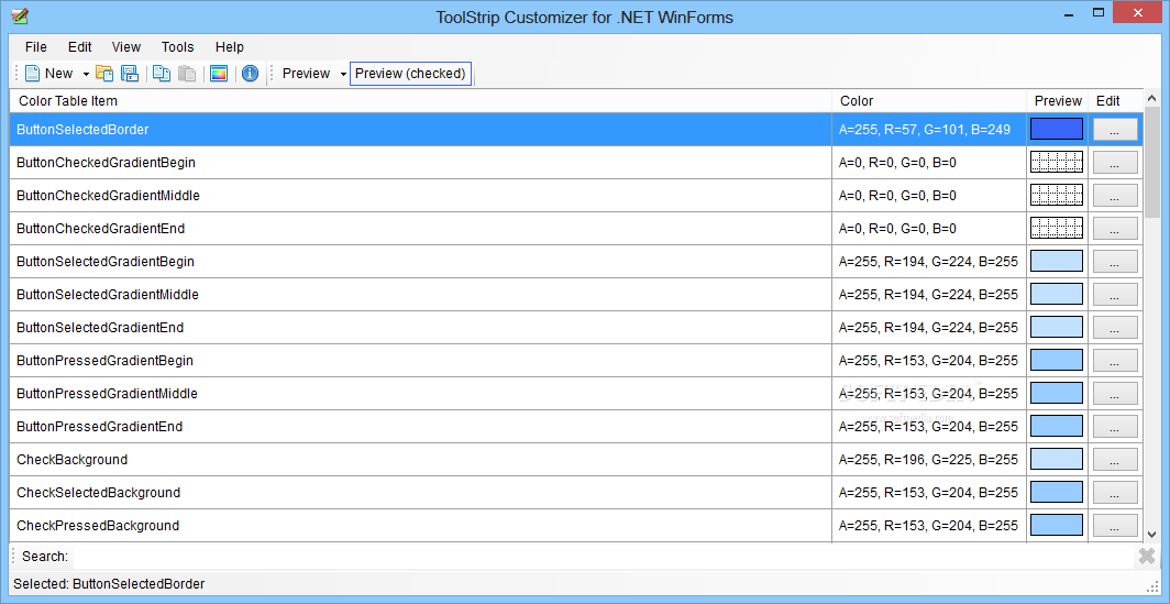 Download ToolStrip Customizer for  NET WinForms (formerly