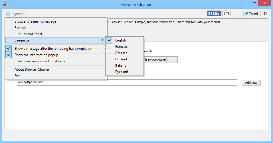 toolbar cleaner francais