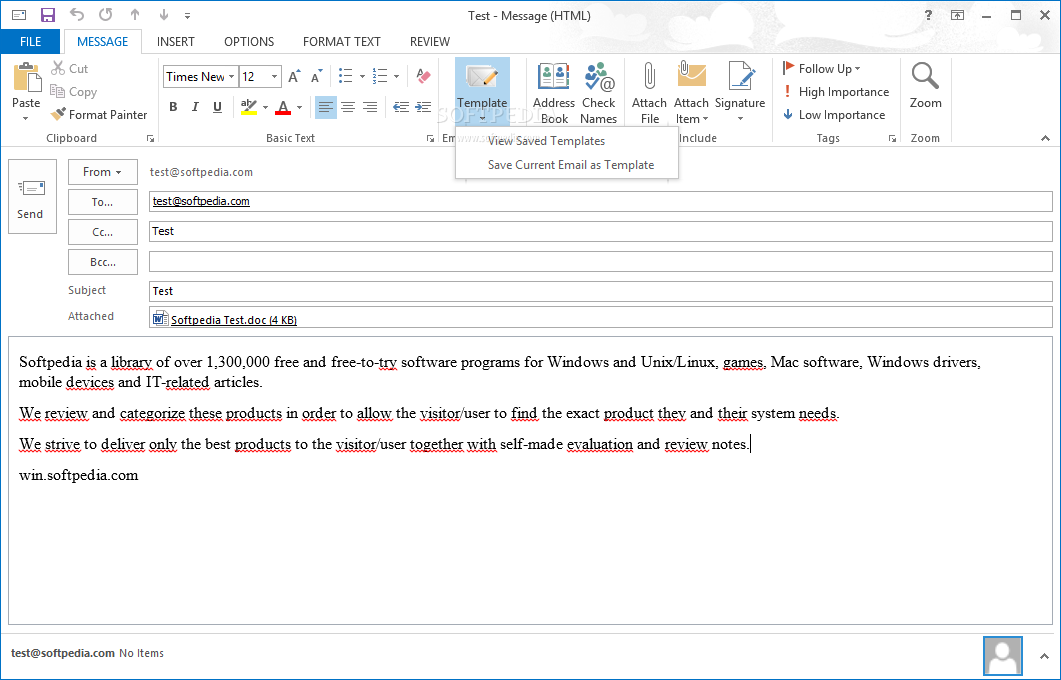 templates for outlook