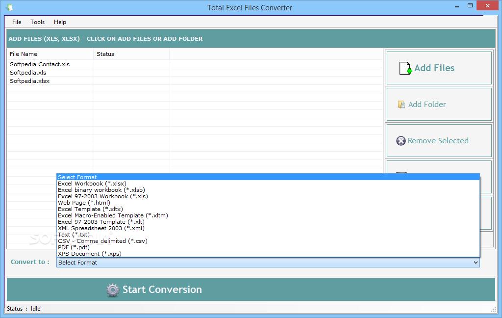 Download Total Excel Files Converter 3626