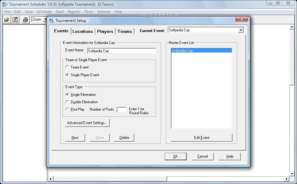 Create Single /& Double Elimination Brackets Tournament Scheduler Pro  software