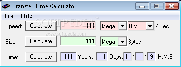Download Transfer Time Calculator 2 03