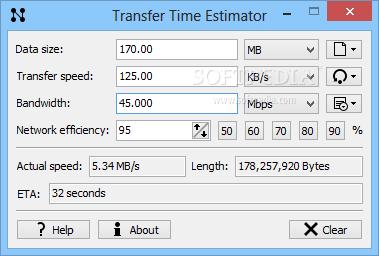 Download Transfer Time Estimator 1 2