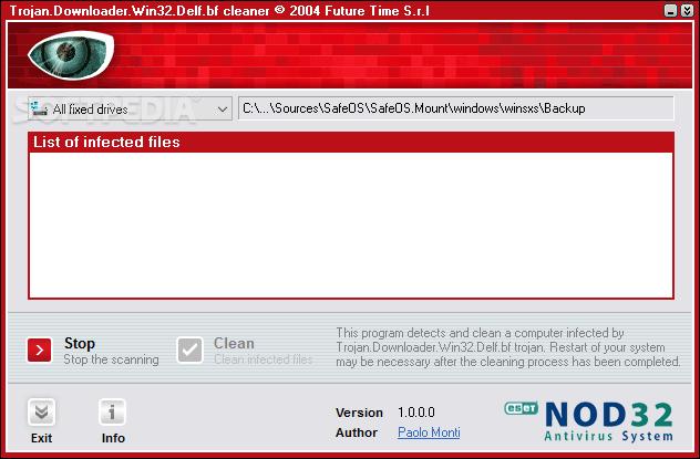 Download Trojan.Downloader.Win.32.Delf.bf Cleaner 1.0.0.0