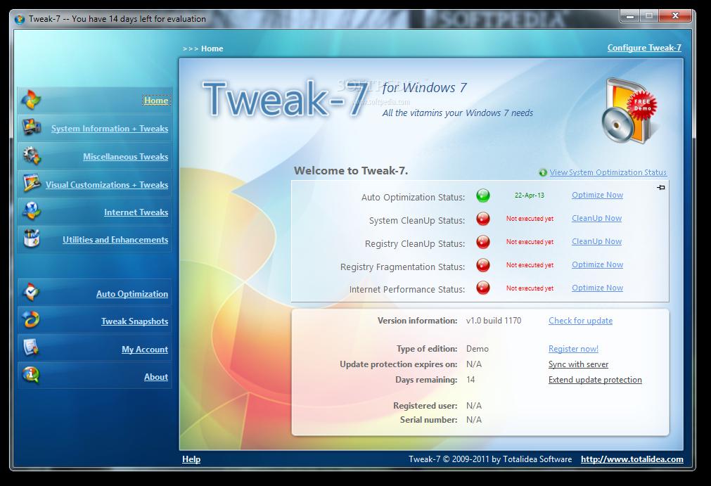 Download Tweak-7 1.0 Build 1250