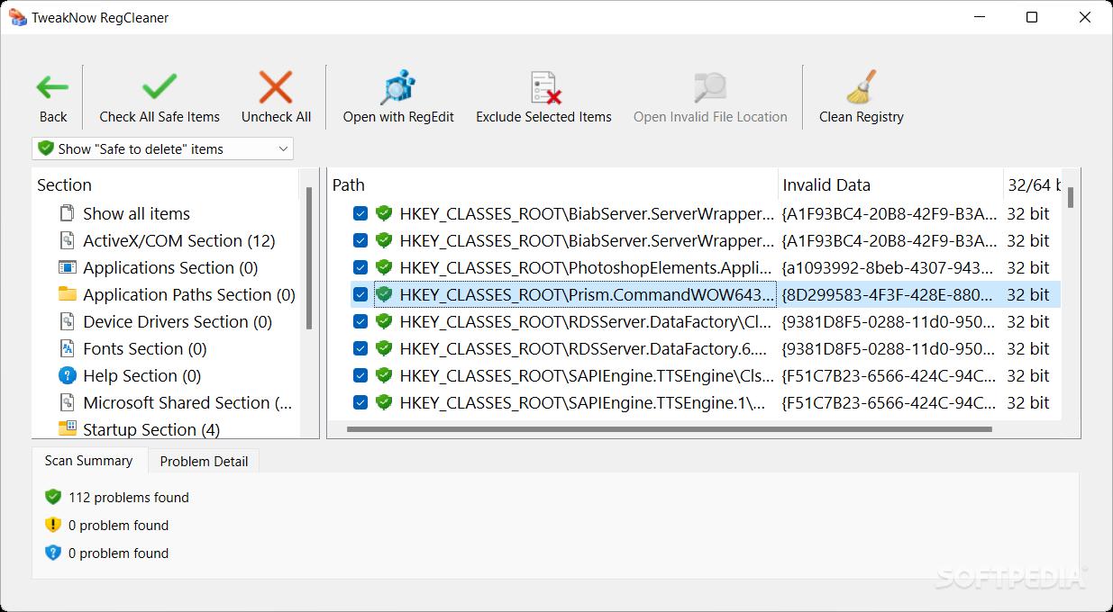 Download TweakNow RegCleaner 7.3.6