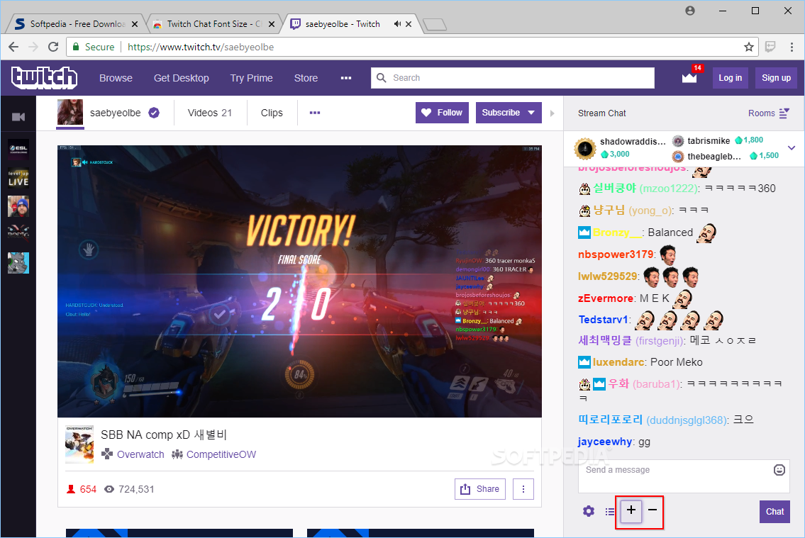 Download Twitch Chat Font Size 3 0 1