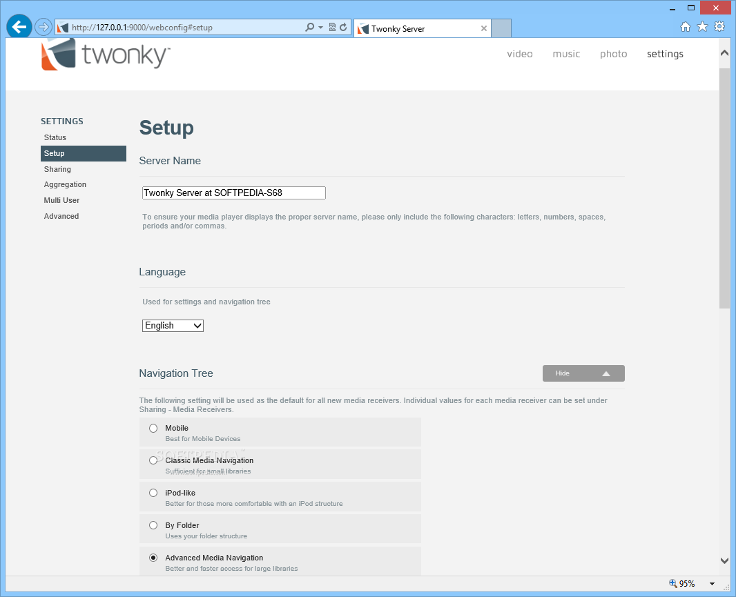 Download Twonky Media Server