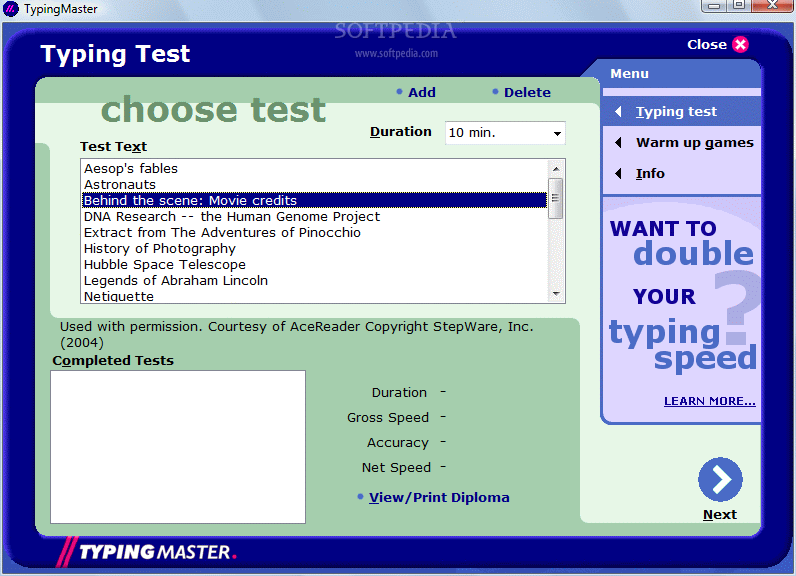 Download TypingMaster Typing Test 6 30 build 568