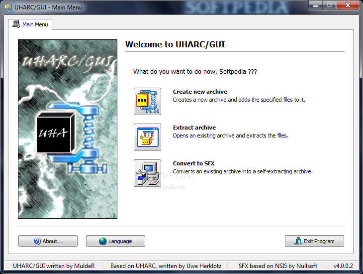 uharc for windows