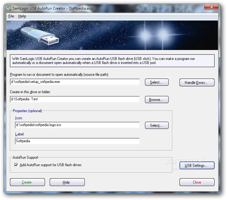 Download usb autorun creator sample letter from for Autoplay menu builder templates