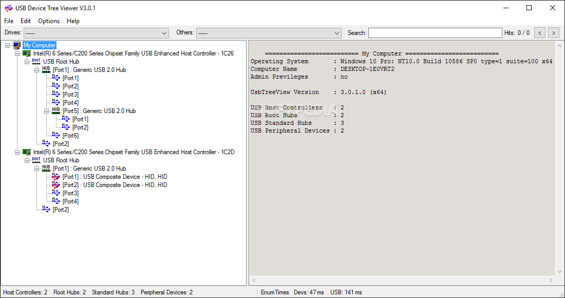 Download USB Device Tree Viewer 3 3 6