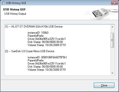 Download USB History GUI 0 1