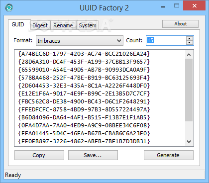 Download UUID Factory 2 2 0 3310