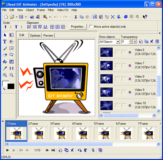 Ulead gif animator ulead gif animator provides you with all the