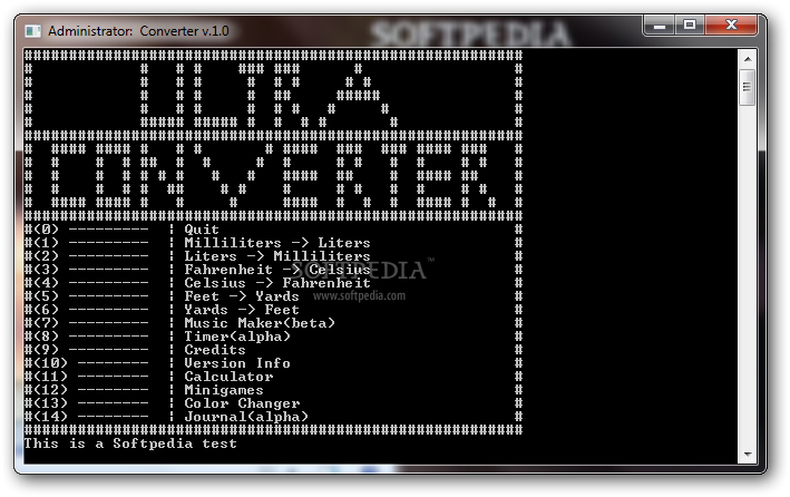Ultra Converter screenshot 1 - This is how you can use the main window of the application to use the converter.