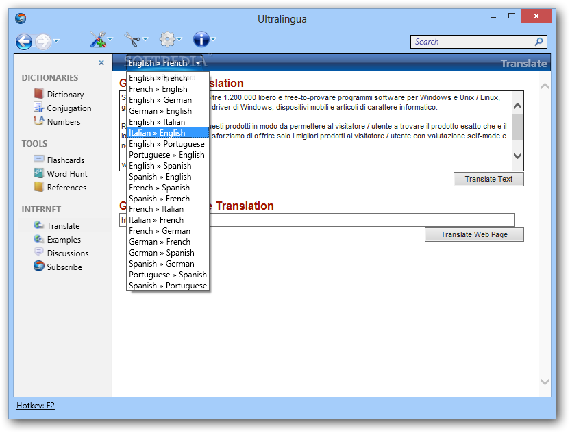 Ultralingua French English Spanish Dictionaries With Conjugation 6 ...