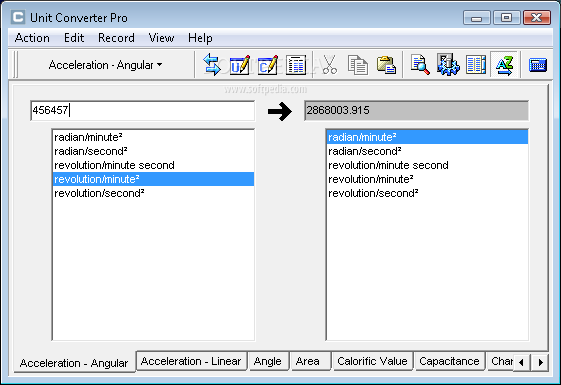 Unit Converter Pro The Main Window Allows You To Enter Value And Select