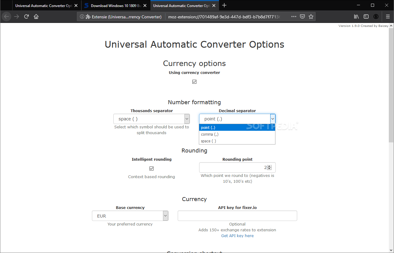 Download Universal Automatic Currency Converter for Firefox