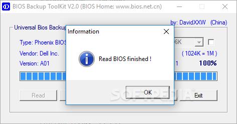 Download Universal BIOS Backup ToolKit 2 0