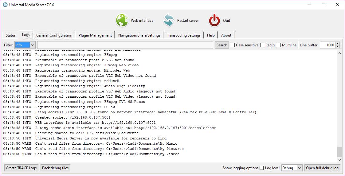 Download Universal Media Server 8 2 0 / 9 0 0 Beta 2