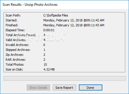 Unzip Photo Archives