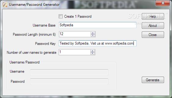 Mofos username and password generator