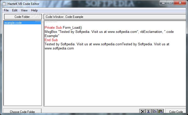Download VB Code Editor 1 7