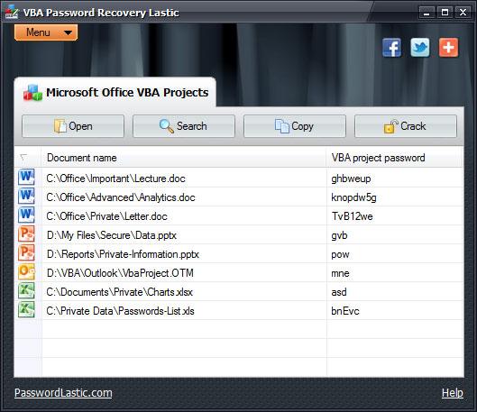 torrent vba password recovery lastic
